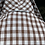 1960s Brown and White Gingham Shirt Dress Back View