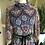 1970s Paisley print Cotton mix Maxi Dress By Kati Front View