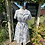 1970s White Print Summer Dress Front View