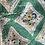 1940s Vintage Pinafore  Green and Yellow Apron Dress Close Up
