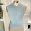 Thumbnail: Hand Knitted Duck Egg Blu  Waist Coat