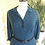1950s Teal and Black Wool Mix Shirt Dress Front View