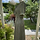 1940s Green Silk Day Dress Side View