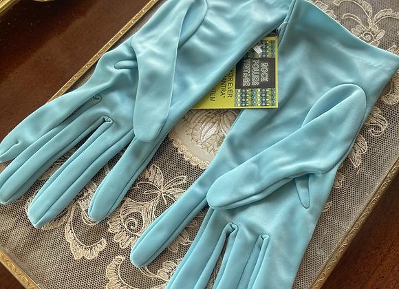 Turquoise Nylon Gloves