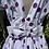 1950s Polka Dot Tea Dress Back View
