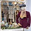 Burgundy Corduroy Jacket with Silk & Harris Tweed Front View