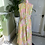1960s Pastel Pink and Yellow Chiffon Cat Suit Back View