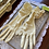 Primrose Yellow Pink 3/4 Ruched Gloves by Dents