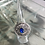 Thumbnail: Celtic Shield with Blue Stone Silver Ring