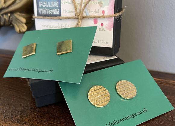 Two Sets of Square & Round Cuff  Links