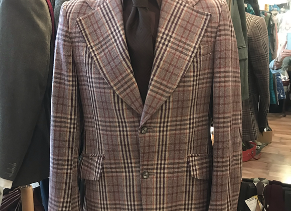 1970s Tan Check Tweed Jacket