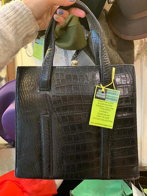 1980's Moc Croc Handbag