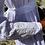 1970s White & Lavender Prairie Maxi Dress Laura Ashley Sleeve View