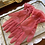 1950s Sheer Coral Nylon Gloves with Double Wrist Frill By Dents