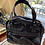 1960s Style Black Patent Handbag Back View