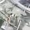 Thumbnail: Pale Blue Gem Stone Gold Band