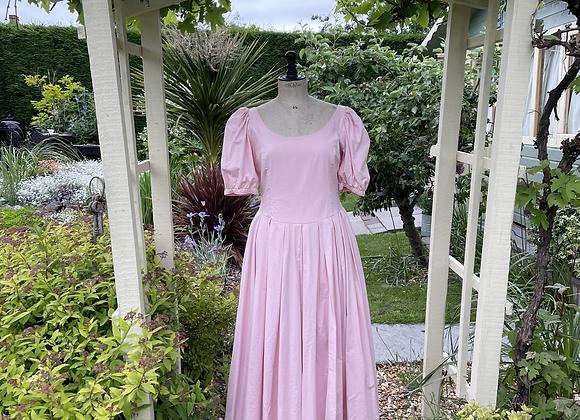 80s Pastel Pink Laura Ashley Tea Dress