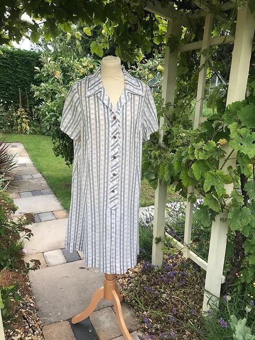 1970s Selfridges Shirt Dress Front View