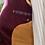 Burgundy Corduroy Jacket with Silk & Harris Tweed Inside View
