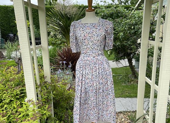 80s Floral Laura Ashley Tea Dress
