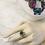 Thumbnail: Adjustable Blue Stone Ring