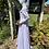 1970s White & Lavender Prairie Maxi Dress Laura Ashley Side View