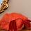 1950s Red Net & Burgundy Velvet Hat Top View