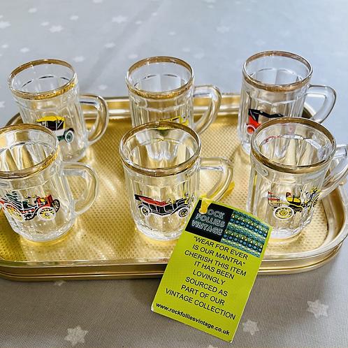 Six Mini Tankard Shot Glasses