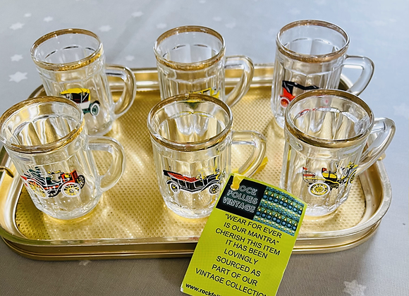 Six Mini Tankard Shot Glasses