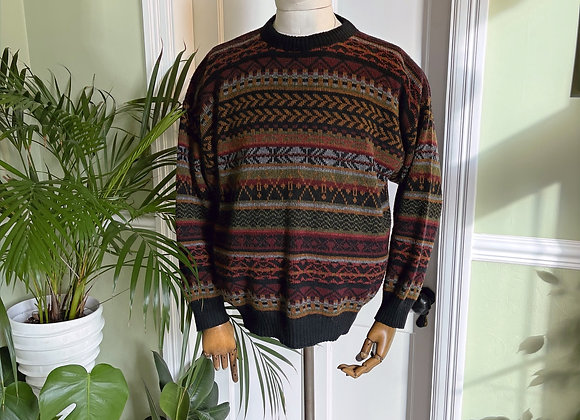 Aztec pattern 1980s Crew Neck Jumper