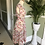 1940s Roses Party Dress Side View