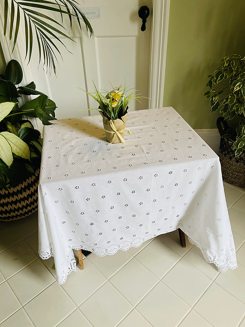Vintage Cotton Table Cloth