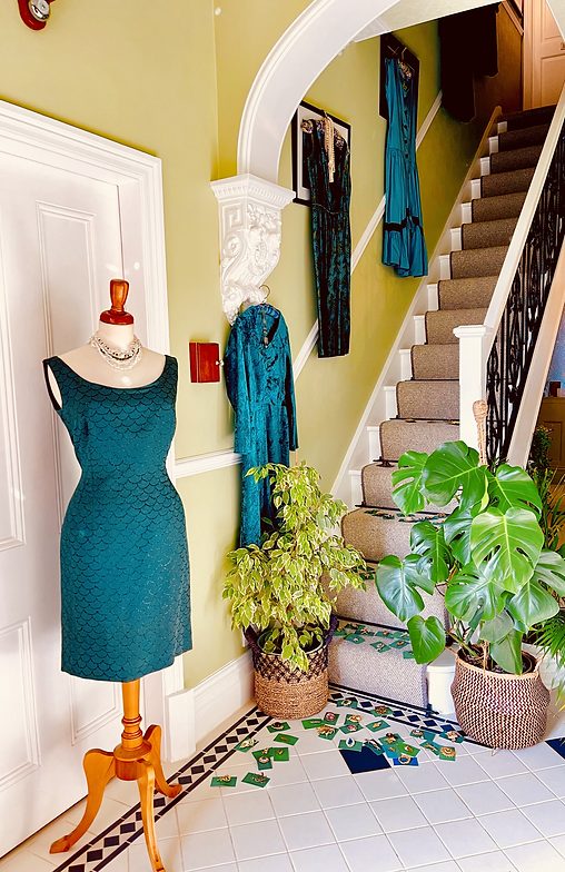 Dresses on the Stairs