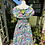 1980s Pretty Floral Tea Dress Back View