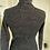 Thumbnail: Black & Silver Metallic Knitted 1970s Skinny Rib