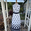 1970s White and Black Maxi Dress By Berketex Front View