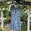 1940s Blue and Pink Floral Day Dress on Hanger