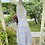 1950s Lilac and Yellow Tea Dress & Petticoat Side View