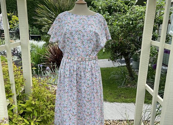 1980s Does 1940s Style Tea Dress