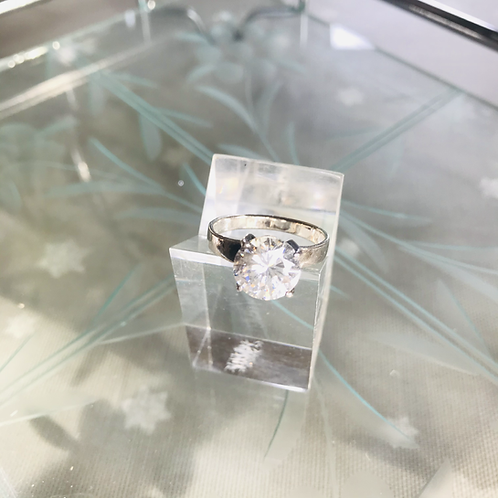 Cubic Zirconia Solitaire Ring