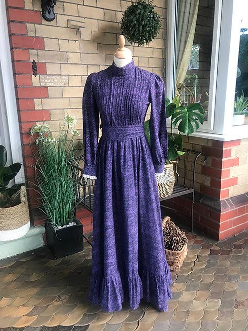 1970's Laura Ashley Prairie Maxi Dress