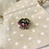 Thumbnail: Adjustable Pink Butterfly  Stone Ring
