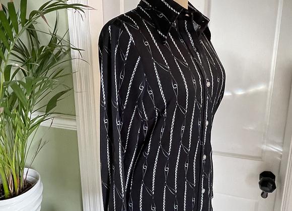 1970s Jersey Print Shirt