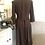 Vintage Brown Wool Crepe Dress with Ribbon Appliqué Back View