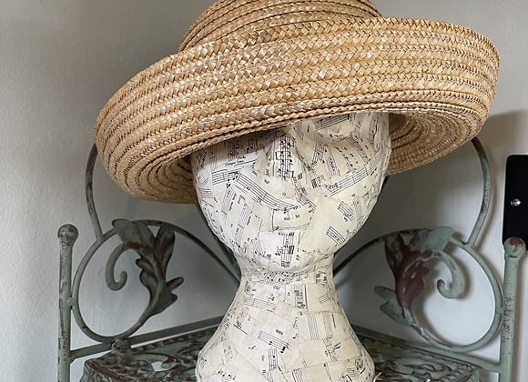 Rounded Brimmed Straw Hat
