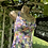 Original ivory, green, orange and pink 1950s Cotton Swim Suit by Slix