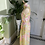 1960s Pastel Pink and Yellow Chiffon Cat Suit Side View