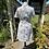 1970s White Print Summer Dress Back View