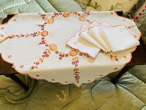 Small Embroidered Cloth & Napkins