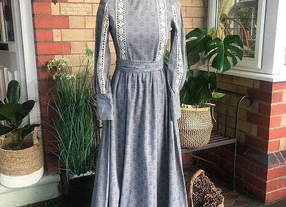 1970s Laura Ashley Prairie Maxi Dress